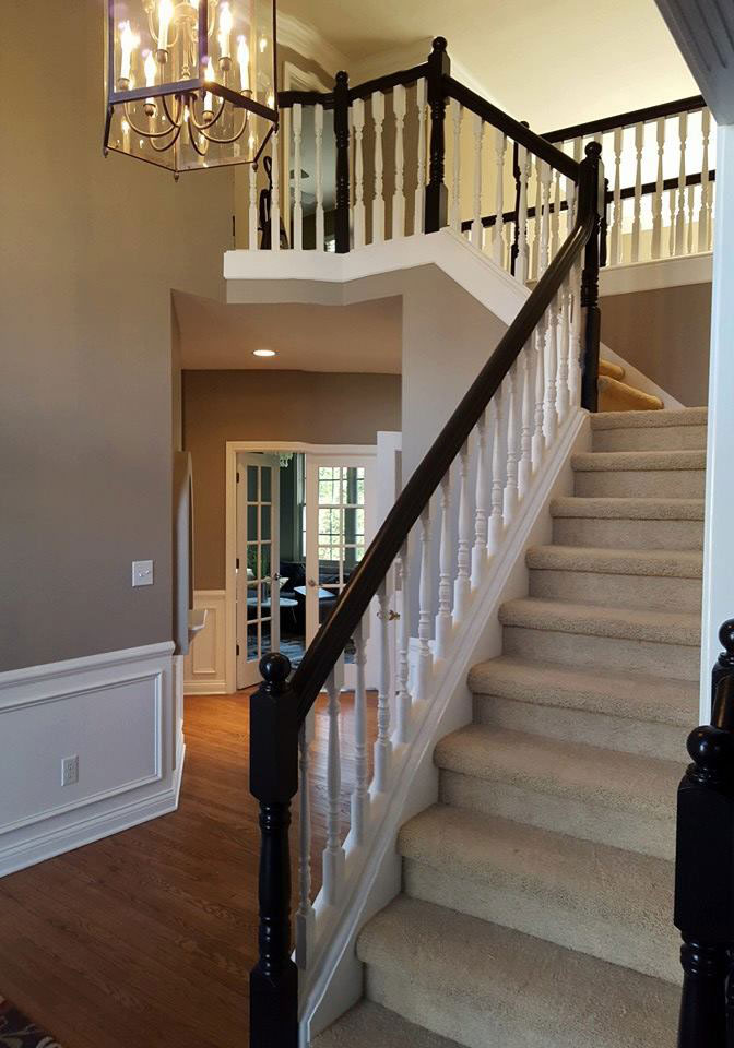 interior painted handrailing interior carmel, fishers, indianapolis, brownsburg indiana
