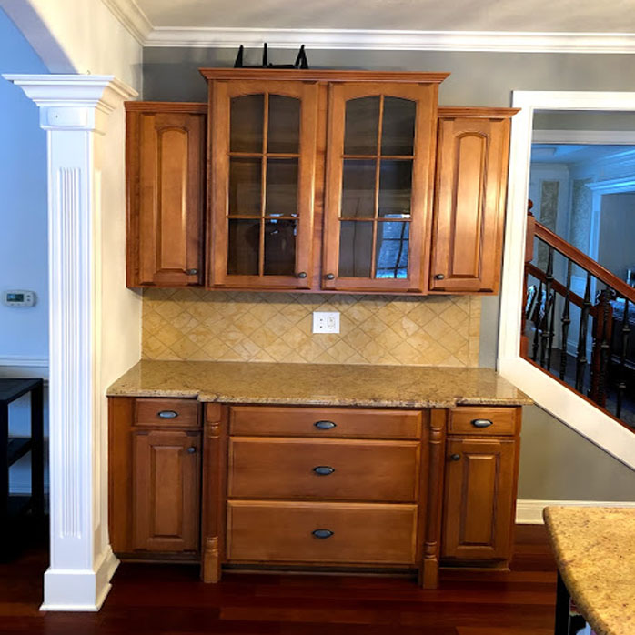 painted cabinets before carmel in