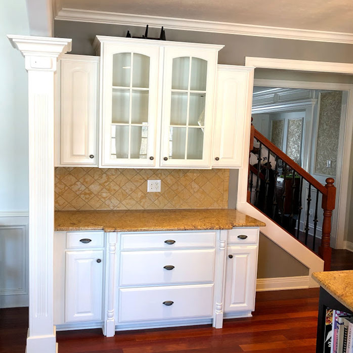 painted cabinets after carmel in