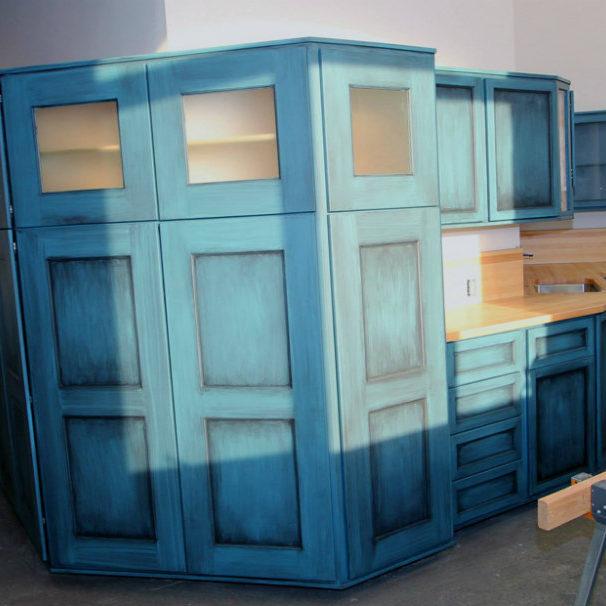 glazed faux finish cabinet painting